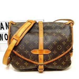 Louis Vuitton Saumur MM 30 monogram crossbody bag